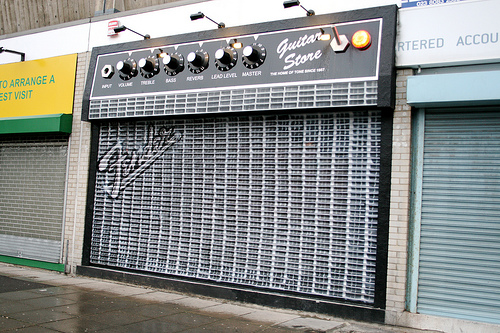 The store is called The Guitar Store and it is on Commercial Road opposite ...