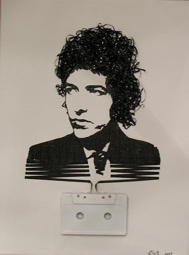 bob dylan cassette tape art