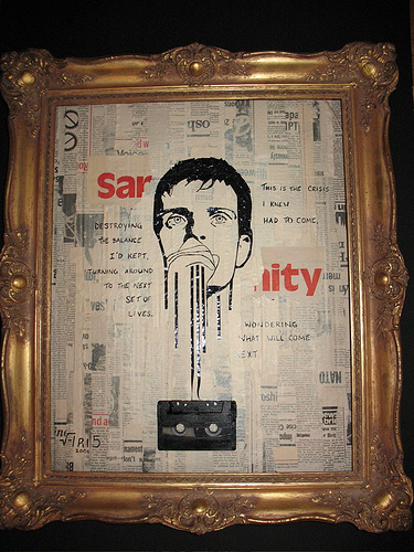 ian curtis cassette tape art