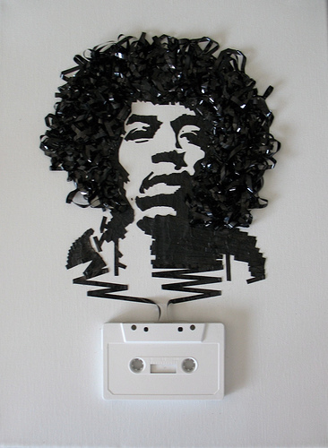jimi hendrix cassette tape art