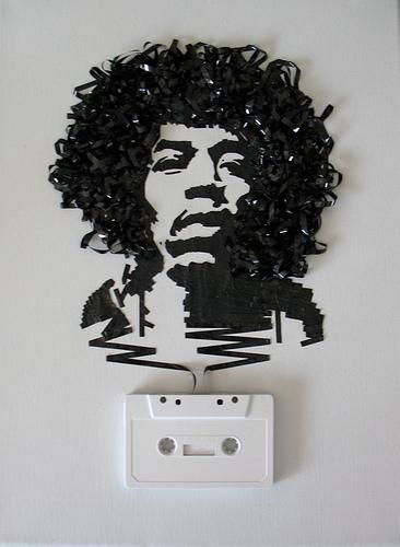 jimi hendrix cassette tape art