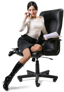 office lady on cellphone
