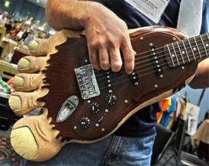 custom guitar bigfoot