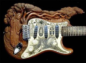 custom guitar carved
