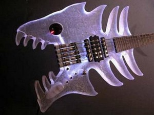 custom guitar fish
