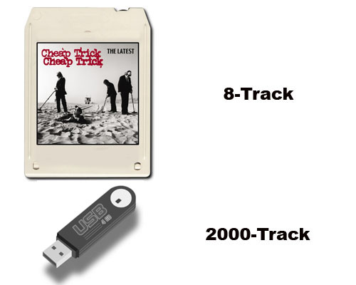8 track versus usb flash drive