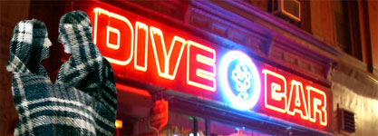 dive bars neon flannel