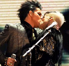 adam lambert kisses guy