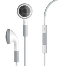 headphones apple w remote mic