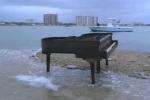 piano on island