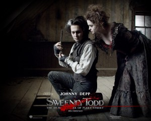 tim burton movie sweeney todd with johnny depp
