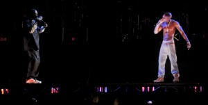Tupac Hologram performs songs at Coachella 2012 festival