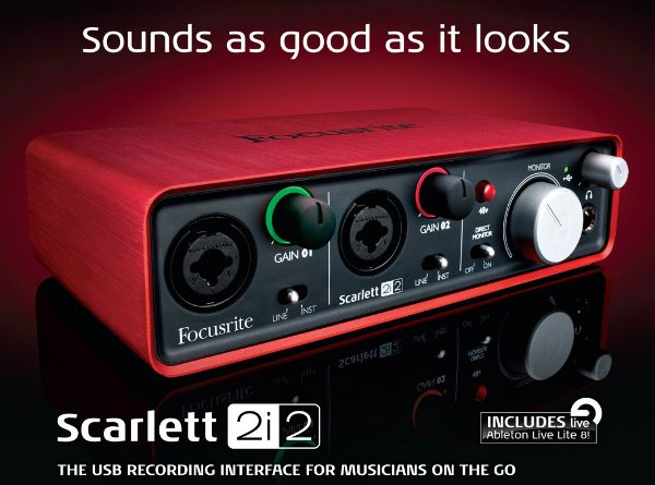scarlett 2i2 USB recording interfac