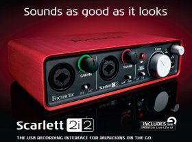 USB Recording Audio Interface scarlett 2i2