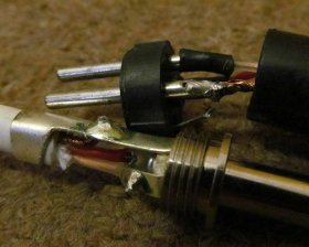 soldering audio cable